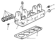 Tennant 8400 Sweeper/Scrubber MM311 Cylinder Head Group Parts