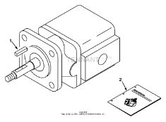 Tennant 8400 Sweeper/Scrubber MM311 Hydraulic Motor Breakdown, 73098 Parts