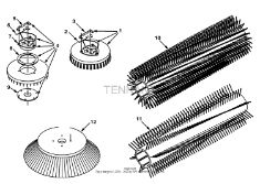 Tennant 8400 Sweeper/Scrubber MM311 Replacement Brushes Parts