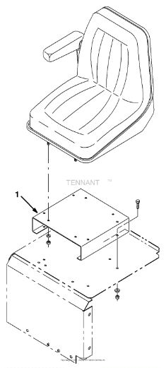 Tennant 8400 Sweeper/Scrubber MM311 Seat Mounting Bracket Kit Parts