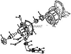 Tennant ATLV 4300 Litter Vac 1040369 Engine Water Pump Group Parts
