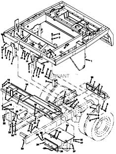 Tennant Centurion Street Sweeper (S/N 000000 - 002000) Main Frame Group Parts