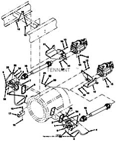 Tennant Centurion Street Sweeper (S/N 000000 - 002000) PTO And Drive Shafts Group PartsTennant Centurion Street Sweeper (S/N 000000 - 002000) PTO And Drive Shafts Group Parts