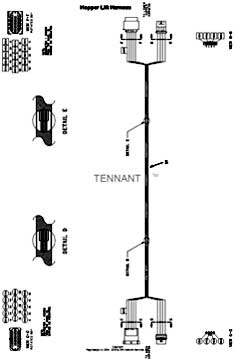 Tennant Centurion Street Sweeper (S/N 002001 & Up) Wire Harnesses Group, Hopper Lift (002500- ) PartsTennant Centurion Street Sweeper (S/N 002001 & Up) Wire Harnesses Group, Hopper Lift (002500- ) Parts