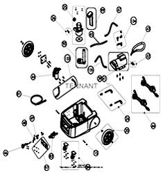 Tennant Q12 Hard Surface Cleaner 1200 PSI Base Parts Diagram Parts