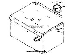 Tennant T15 Rider Scrubber 331551 Cup Holder Kit PartsTennant T15 Rider Scrubber 331551 Cup Holder Kit Parts