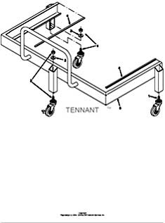 Tennant T15 Rider Scrubber 331551 Pre-Sweep Dolly Kit Parts