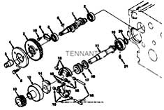 Tennant T20 Diesel Rider Scrubber 331501 Fuel Camshaft Group Parts
