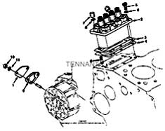 Tennant T20 Diesel Rider Scrubber 331501 Injection Pump Group Parts