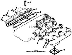 Tennant T20 Diesel Rider Scrubber 331501 Manifold Group Parts