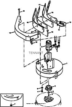 Tennant T20 Diesel Rider Scrubber 331501 Side Brush Motor Group (002116- ) PartsTennant T20 Diesel Rider Scrubber 331501 Side Brush Motor Group (002116- ) Parts