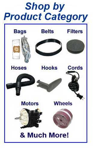 Shop Hoover parts, belts, bags, filters and accessories by product category!