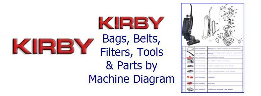 Shop Kirby parts, belts, bags, filters and accessories by machine diagram/schematic!