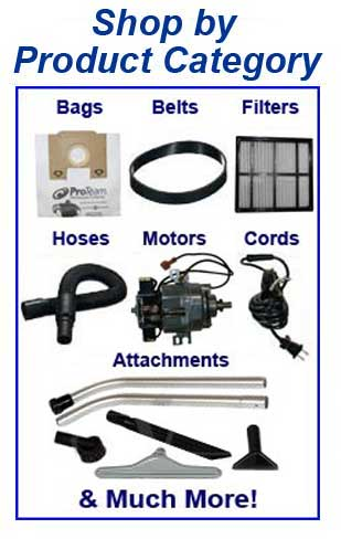 Shop Proteam parts, belts, bags, filters and accessories by product category!